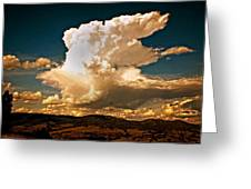 Thunderhead Over The Blacktail Plateau Greeting Card by Marty Koch