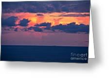 Thundering Sunset Greeting Card