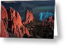 Thunderstorm At Garden Of The Gods Greeting Card