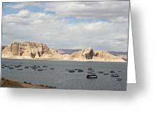 Thunderstorm Atmosphere Over Lake Powell Greeting Card