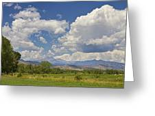 Thunderstorm Clouds Boiling Over The Colorado Rocky Mountains Greeting Card