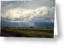 Thunderstorm On The Plains Greeting Card