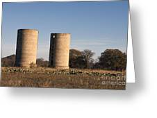Thurber Dairy Silos Texas Greeting Card