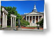 Thurgood Marshall Memorial And Maryland State House Greeting Card