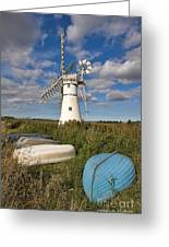 Thurne Dyke Windpump Norfolk Greeting Card
