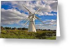 Thurne Dyke Windpump On The Norfolk Broads Greeting Card