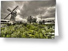 Thurne Wind Pump Greeting Card