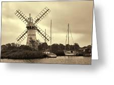 Thurne Windmill IIi Greeting Card