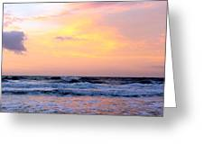 Topsail Island Pastel Sunrise Greeting Card