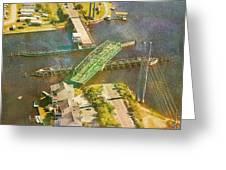 Ti Swingin' Swing Bridge Greeting Card by Betsy Knapp