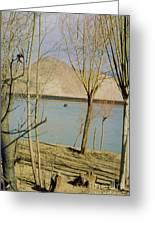 Tibet Lake Burial Greeting Card