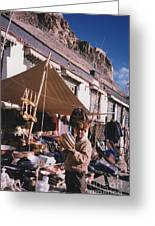 Tibet Market At Gyantse By Jrr Greeting Card