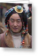 Tibetan Beauty - Kham Greeting Card by Craig Lovell