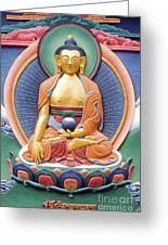Tibetan Buddhist Deity Wall Sculpture Greeting Card