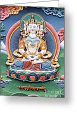 Tibetan Buddhist Temple Deity Sculpture Greeting Card
