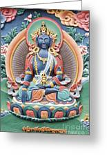 Tibetan Buddhist Temple Deity Greeting Card by Tim Gainey