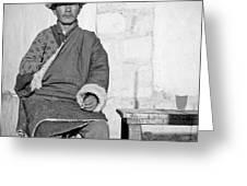 Tibetan Gunslinger Greeting Card