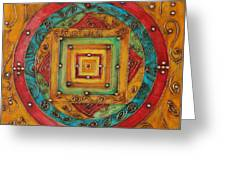 Tibetan Mandala Greeting Card