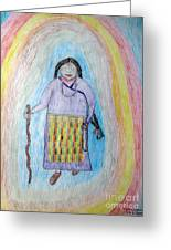 Tibetan Woman Greeting Card