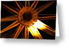 Tick-tock Star Clock Greeting Card