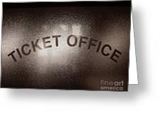 Ticket Office Window Greeting Card