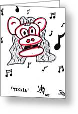 Tickle Greeting Card by Jera Sky