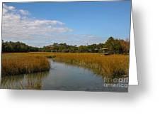 Tidal Creek Ebb And Flow Greeting Card