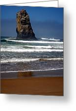 Tidal Monument Greeting Card by Mamie Gunning