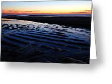 Tidal Ripples At Sunrise Greeting Card by James Kirkikis