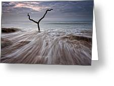 Tidal Rush Greeting Card by Mark Leader