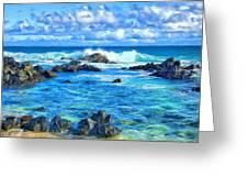 Tide Pool Near Hana Maui Greeting Card