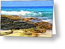 Tide Pools At Magic Sands Greeting Card