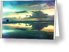 Tidepool Siesta Key Greeting Card by Alison Maddex