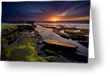 Tidepool Sunsets Greeting Card