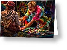 Tie Dye Guy Greeting Card by Bob Orsillo