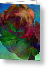 Tie Dye Rose Greeting Card