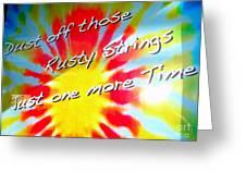 Tie Dye Tease Greeting Card
