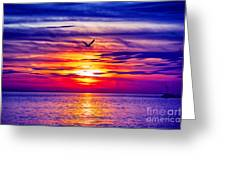 Tie Dyed Sky Greeting Card