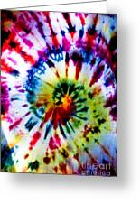 Tie Dyed T-shirt Greeting Card