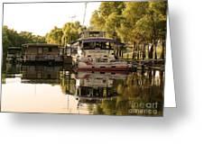 Tied Up Atchafalaya Swamp Louisiana Greeting Card