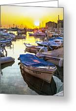Tied Up In Rovinj Greeting Card