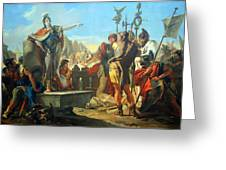 Tiepolo's Queen Zenobia Addressing Her Soldiers Greeting Card