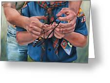 Ties That Bind Greeting Card by Lori Brackett