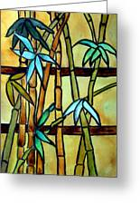 Stained Glass Tiffany Bamboo Panel Greeting Card