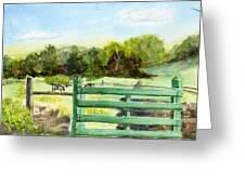Tiffany Farms East Gate Greeting Card