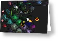 Tiffany Floral Design Greeting Card