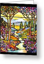 Tiffany Landscape Window Greeting Card