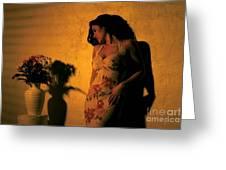 Tiffany Vase Greeting Card