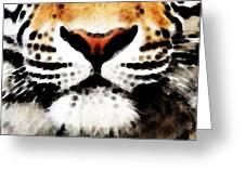 Tiger Art - Burning Bright Greeting Card