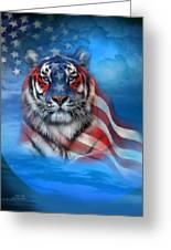 Tiger Flag Greeting Card
